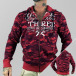 Yakuza Zip Hoodie Jesus Or Cocaine red 0
