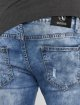 Aarhon Jean coupe droite Washed bleu 5