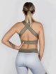 Beyond Limits Sports Bra Crossback grey 1