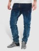 Cipo & Baxx Straight Fit Jeans Acid modrý