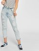 Dr. Denim High Waisted Jeans Nora Ripped To Mom blauw 0