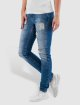 Noisy May Skinny jeans nmLucy Super Slim Rip Patch blauw 0