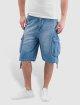 Pelle Pelle Basic Denim Cargo Shorts Used Blue