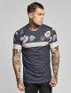 Sik Silk T-paidat Curved Hem Sports harmaa 0