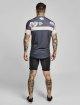 Sik Silk T-paidat Curved Hem Sports harmaa 4