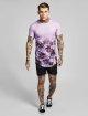 Sik Silk T-paidat Palm Rework Curved Hem purpuranpunainen 1