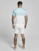 Sik Silk T-paidat Curved Hem Wash Out turkoosi 3