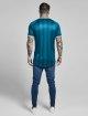 Sik Silk T-paidat Contrast Retro Stripe Gym vihreä 4