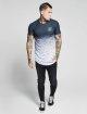Sik Silk T-shirts Curved Hem Fade hvid 3