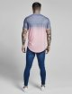 Sik Silk T-shirts Curved Hem Fade rosa 3