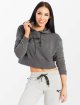 Smilodox Sweat capuche Flawless Cropped gris 2