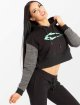 Smilodox Sweat capuche Flawless Cropped noir 1