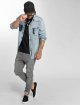 Urban Classics Slim Fit -farkut Knee Cut harmaa 4