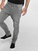 Urban Classics Slim Fit Jeans Knee Cut grau 0