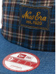 New Era Snapback Caps Denplaid 9Fifty blå