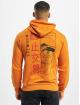 Aarhon Bluzy z kapturem Signs pomaranczowy