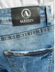 Aarhon dżinsy przylegające Destroyed niebieski