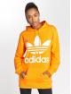 adidas originals Bluzy z kapturem BF Trefoil pomaranczowy 0