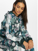 adidas originals Sweat capuche Cropped multicolore 0