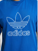adidas Originals T-Shirt Outline Trefoil Logo blau