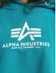 Alpha Industries Bluzy z kapturem Basic niebieski