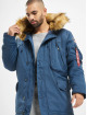 Alpha Industries Manteau hiver Polar bleu
