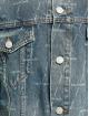 Balenciaga джинсовая куртка Large Fit All Over Logo синий