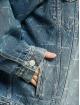 Balenciaga Jeansjacken Large Fit All Over Logo blau