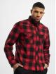 Brandit Рубашка Check красный 2