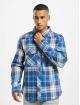 Brandit overhemd Check blauw
