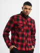 Brandit overhemd Check rood 2