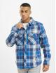 Brandit Skjorte Check blå