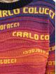 Carlo Colucci Pullover Logo blau