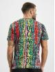 Carlo Colucci T-Shirt Alloverprint weiß