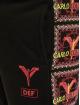Carlo Colucci x DEF Jogginghose Logo II schwarz