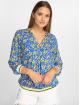 Charming Girl Bluse Uni blau 1