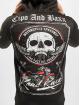 Cipo & Baxx Zip Hoodie Skull czarny