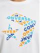 Converse T-Shirt Tri Fill blanc