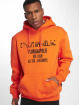 De Ferro Bluzy z kapturem Hood Word Orange pomaranczowy 0