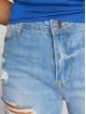 DEF Høy midje Jeans Coral blå