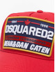 Dsquared2 Snapback Cap Canadian Iconography rosso