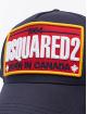 Dsquared2 Snapback Caps Born In Canada niebieski