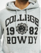 Eight2Nine Felpa con cappuccio College grigio