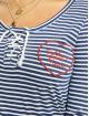 Fresh Made Camiseta de manga larga Heart índigo
