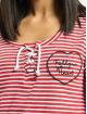 Fresh Made Camiseta de manga larga Heart rojo