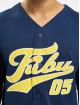 Fubu Chemise Fb Varsity Baseball bleu