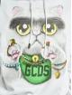 GCDS Felpa con cappuccio Kittho bianco