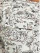 GCDS Kúpacie šortky Tropical biela