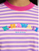 GCDS T-Shirt Stripes magenta