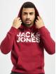 Jack & Jones Bluzy z kapturem jjeCorp czerwony